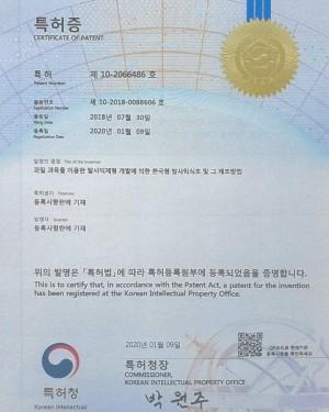 과일과육을 이용한 한국형 발사믹식초 특허